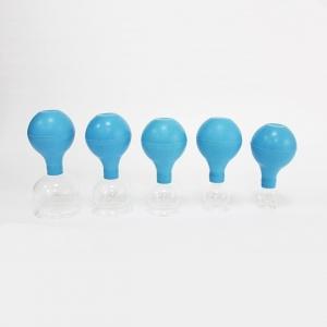 Schröpfgläser mit Saugball zum medizinischen,feuerlosen Schröpfen 5er Set verschiedene Varianten