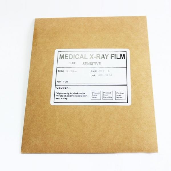 Medizinischer Röntgenfilm, blau