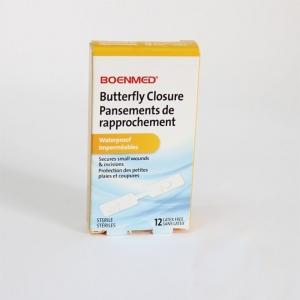 Schmetterlingsverschluss Pflaster