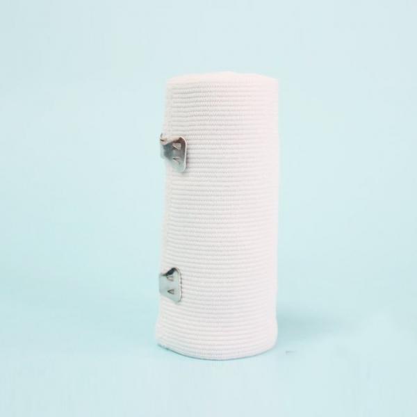 Weiße hochelastische Bandage