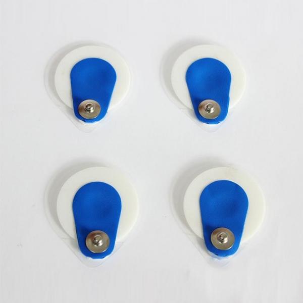 Blaue runde Schaumstoff-Offset-EKG-Elektrode