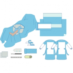Einweg-steriles Arthroskopie-Pack mit Beutel