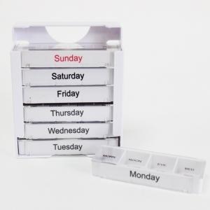 7 Tage Push Button Kunststoff 28 Fällen Pille Container/ Wöchentlicher Pillenbehälter