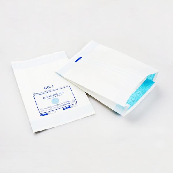 Gefaltete Sterilisationspapierbeutel