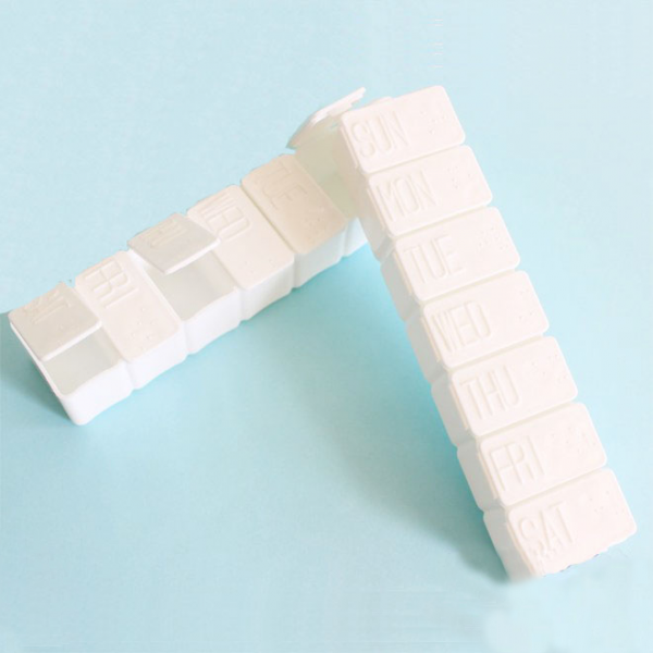 Haushalts-Plastik 7 Tagesmedizin-Behälter